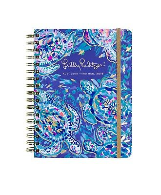 2018-2019 Lilly Pulitzer Large Agenda PARTY WAVE Turtle Dates Datebook Planner L