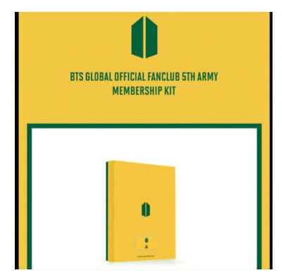 BTS Official Fanclub ARMY 5th term Membership Sealed Full Kit+Tracking+Gift