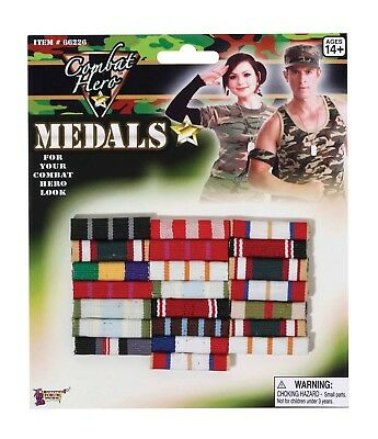 Military Medal Bars Fancy Dress Accessories