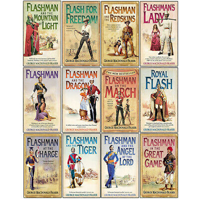 George MacDonald Fraser 12 Books Collection Set Flashman Mountain of Light Lady