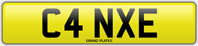 Cane Car Number Plate Surname Reg? Canes Registration C4 Nxe No Added Fees 2 Pay