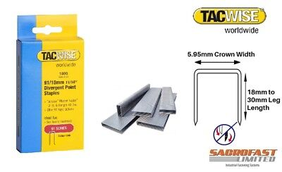 91 Series Divergent Point Staples By Tacwise