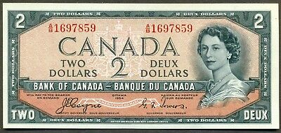 1954 Bank of Canada $2 Devil's Face Notes, Coyne/Towers A/B 16967859 BCS UNC 60