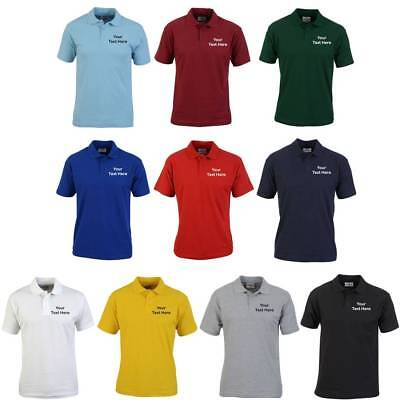 CUSTOM EMBROIDERED POLO SHIRT + PERSONALISED TEXT Workwear Uniform| Small - 4XL