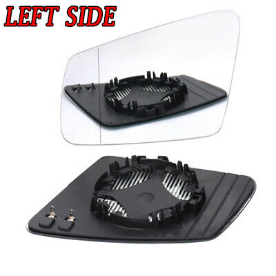For Mercedes-Benz W212 W204 W221 Left Side Heated Door Mirror Glass with Plate