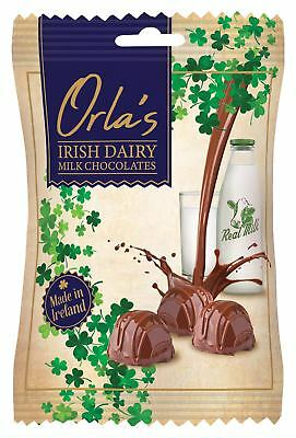 Orla's Irish Dairy Milk Chocolates in a 100g Bag, Made in Ireland