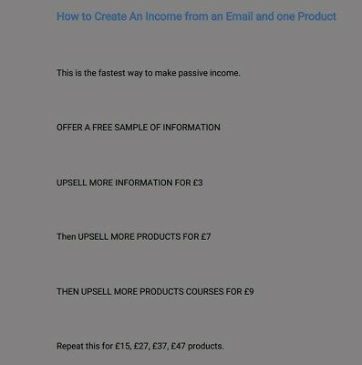 How to make more money from emails and 1 product