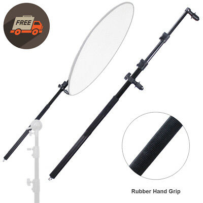 """73""""-28"""" Extendable Photography Studio Reflector Holder Boom Arm w/ Rubber Grip"""