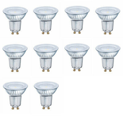 OSRAM LED STAR PAR16 50 120° 3,6W=50W 350 lm GERMANY warm white 2700K nodim 10er