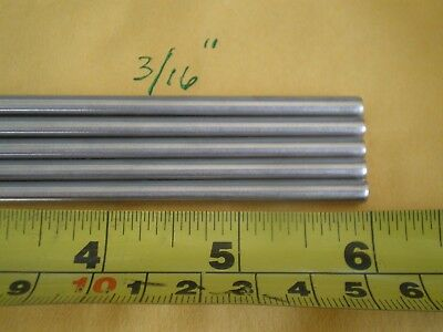 """3 Pcs. Stainless Steel Round Rod 304, 3/16"""" (.192"""") (4.88Mm.) X 6"""" Long"""