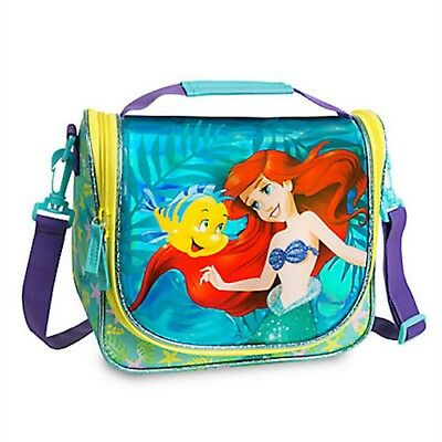 Disney Store Ariel Lunch Tote Box Bag Little Mermaid Princess Flounder Insulated
