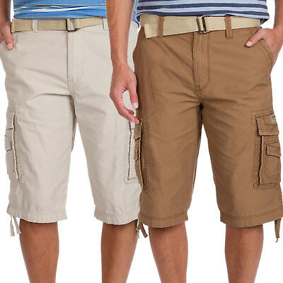 5f61fefa95 New Unionbay Men Cordova Messenger Belted Cargo Shorts 15-in. Inseam Size 40  $46