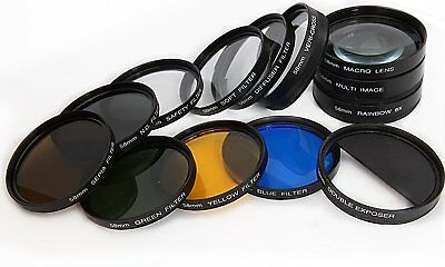 13pc Camera Lens Filter set for Canon EOS 2000D 4000D 800D for 18-55mm Lens