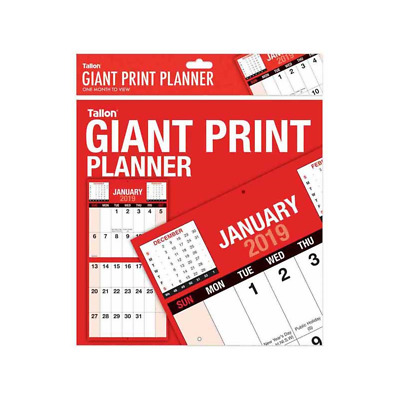 2019 Year Commercial Wall Planner Including Pen and Stickers use in Office,Home
