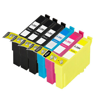 6 NON-OEM Ink For Epson 29XL XP-355 XP-352 XP-345 XP-342 XP-335 XP-332