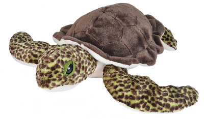 "Wild Republic Cuddlekins 12"" Sea Turtle Green Plush Soft Toy Cuddly Teddy 21653"