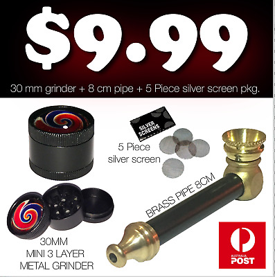 Tobacco Smoking Pipe SOLID BRASS metal..  MINI BUD BOMB Smokeless pipe