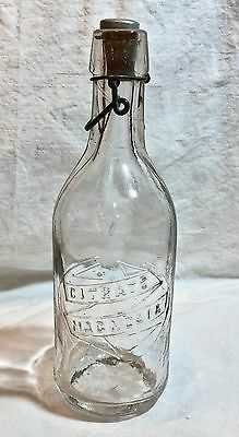 Antique Glass Bottle Citrate of Magnesia  Circa Late 1800-Early 1900's   DA0497