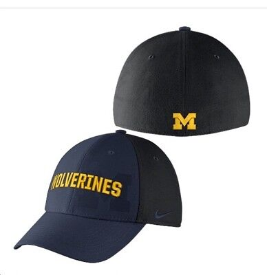 97c55fc7430f48 ... low price nike michigan wolverines one size flex dri fit hat blue black  classic 99 0f214