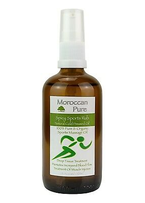 Moroccan Pure Sports Massage Injury Treatment Therapy Oil For Strains Pain 100ml