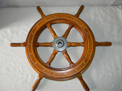 Antique Authentic  Wooden Ships Wheel Yacht Boat Nautical Marine