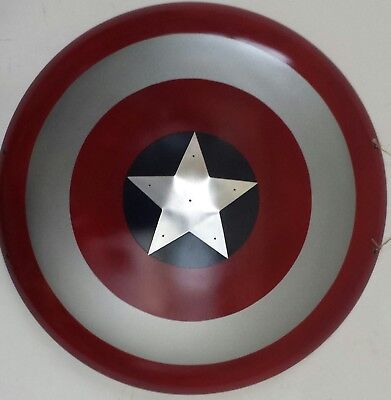 "Captain America Avengers custom steel shield 26"" overall"