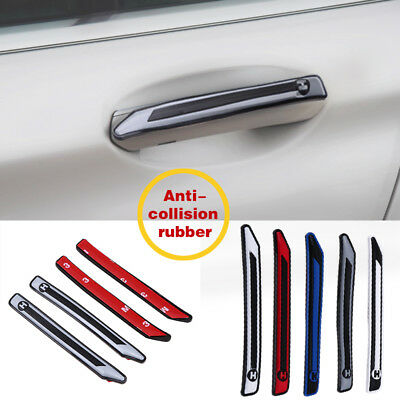 4X Universal Car Door Edge Guard Trim Strip Bumper Scratch Protector Rubber Grey