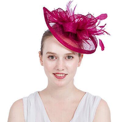 Flower Net Fascinator Headband Alice Band Wedding Ladies Day Race Royal Ascot