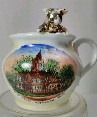 Souvenir**made in Germany**. Courthouse Muskegon Michigan. !!!Rare!!!