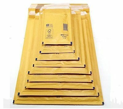 50Pc Arofol Genuine Gold Bubble Padded Envelopes Mail Size 110 X 165Mm Free Post
