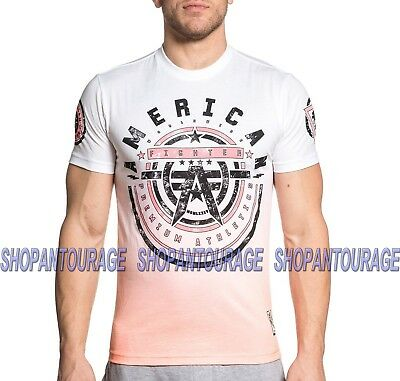 American Fighter Maryland FM6056 Men`s Marble White T-shirt By Affliction