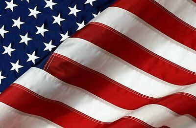 8'X12' Nylon American Flag - Sewn Stripes and Embroidered Stars - Made in USA