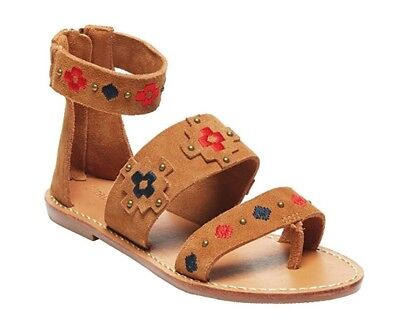 5458b5606bf Soludos Embroidered Three Banded Sandal   Camel Brown Suede   Women s 6