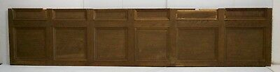 "Antique Oak Wall Paneling Tudor 19th C. Gothic (18"" x 83"") Architectural Salvage"
