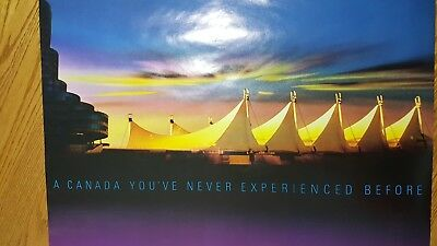 Two Posters 1986 World Fair Expo Vancouver BC Canada Pavilion Beneath the Sails