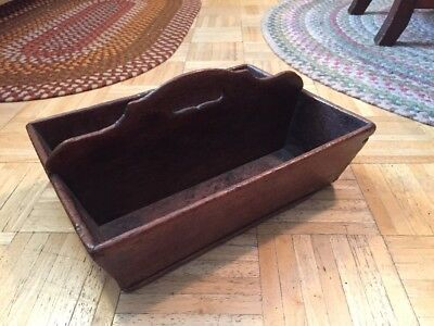 18th To Early 19th Century Cutlery Tote Walnut W Old Varnish & High Center Arch