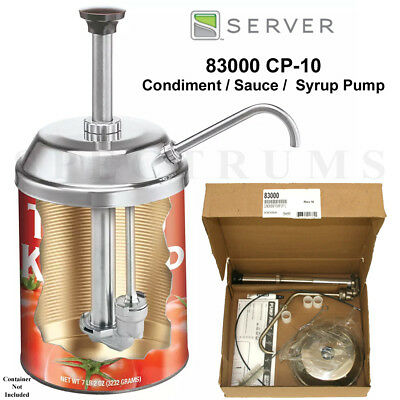 Server 83000 CP-10 Stainless Steel Condiment Sauce Syrup Dispenser Pump