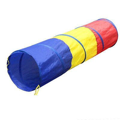 QWZ Portable Foldable Toy Tent for Children Kids Tricolor Tunnel Play Tent Suit
