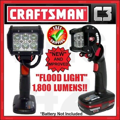 Craftsman C3 19.2V Custom Flood Light Work Light Flashlight 19.2 Volt Rare New