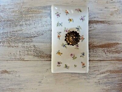 ROCKER BLOTTER Vintage MULTI-COLORED HP FLOWERS