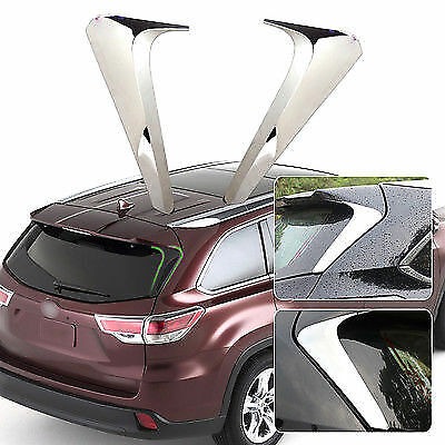 2x Chrome Mirror Rear Window Trim Cover Fit For Toyota Highlander Kluger 2015-16