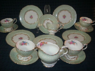 Paragon GEORGIAN Double Warrant Queen Mary 16pc. Teaset MUST SEE!!! FREE SHIP