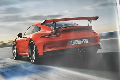 Original 2015 Porsche 911RS GT3 Factory Dealer Showroom Poster GT3RS Road View