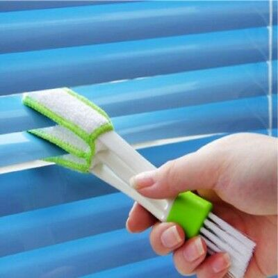 White Mini Clean Car Indoor Air-condition Brush Tool Car Care Detailing EY