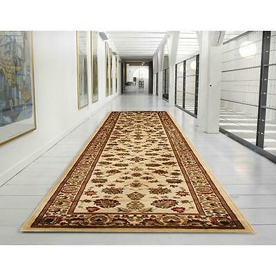 Hallway Runner Hall Runner Rug Modern Cream Red 4 Metres Long FREE DELIVERY 2-II