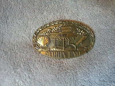 Shell Oil Company - Vintage Belt Buckle - Marlin Unit Rig Team Issued