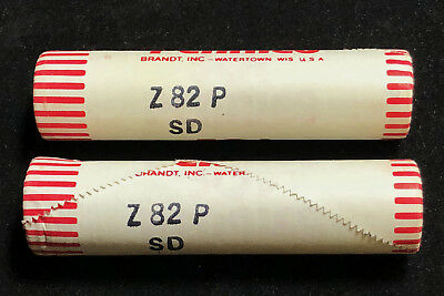 Lot of 2 - 1982-P Small Date Zinc Lincoln Cents - BU Original Bank Wrapped Rolls