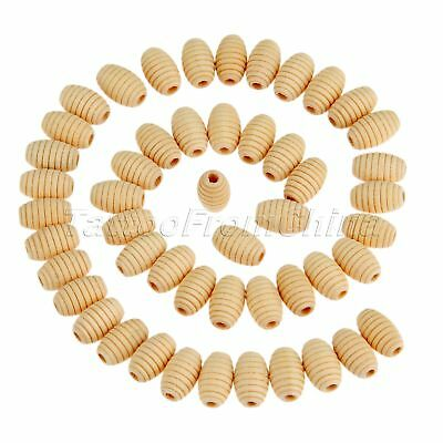 50Pcs Necklace Jewelry Accessory Charms Beads Natural Unfinished Wooden Beads