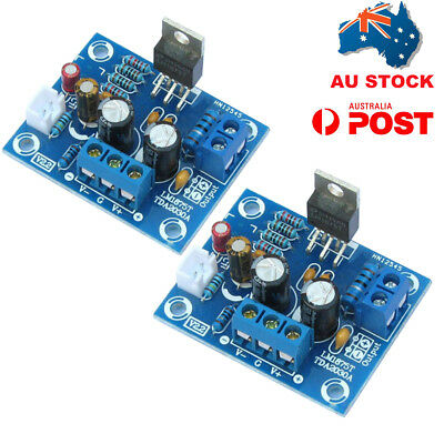 AU 2X 20W HIFI Mono Channel LM1875T Stereo Audio Amplifier Board Module DIY Kit
