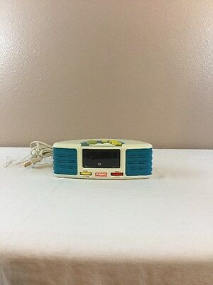 Playskool Melody Maker AM/FM Electronic Clock Radio Kids Alarm PS-370 WORKING!